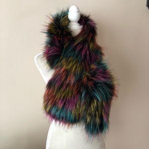 d242a7f3a055 Adrienne Vittadini Accessories - NWT Adrienne Vittadini Multicolored Faux  Fur Stole